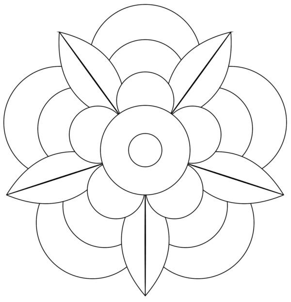 196 dibujos de mandalas para colorear f ciles y dif ciles - Como hacer dibujos en la pared ...