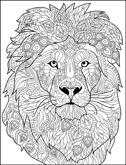 Kleurplaat Wilde Dieren Mandalas Creativos Con Animales Mandalas