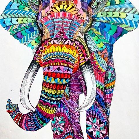 Diseos de Elefantes hindes en mandalas Significado y dibujos