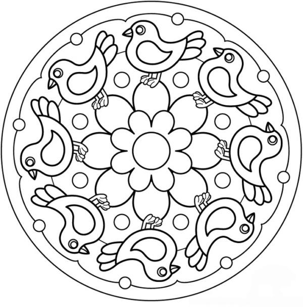 190 mandalas para colorear para ni os mandalas for Mandalas ninos