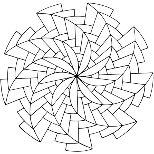free optical art coloring pages - photo#13