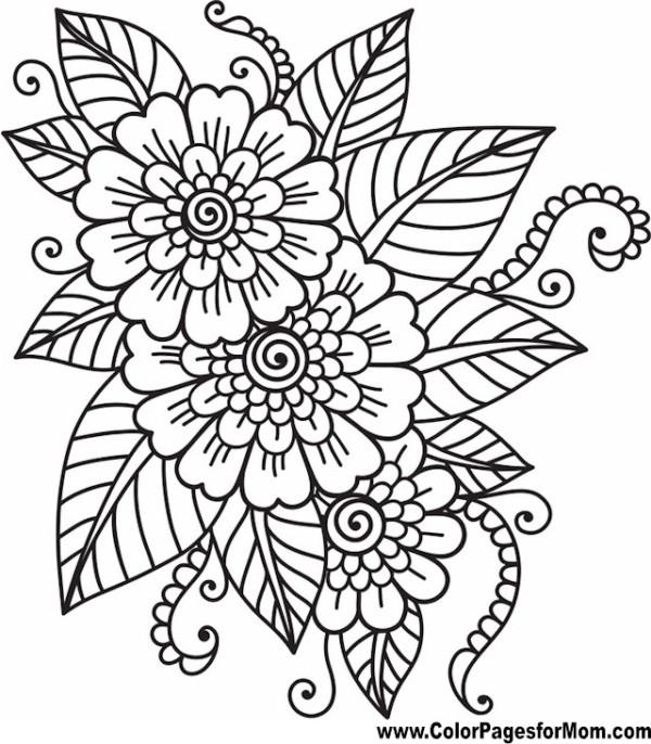 mandalas para colorear flores