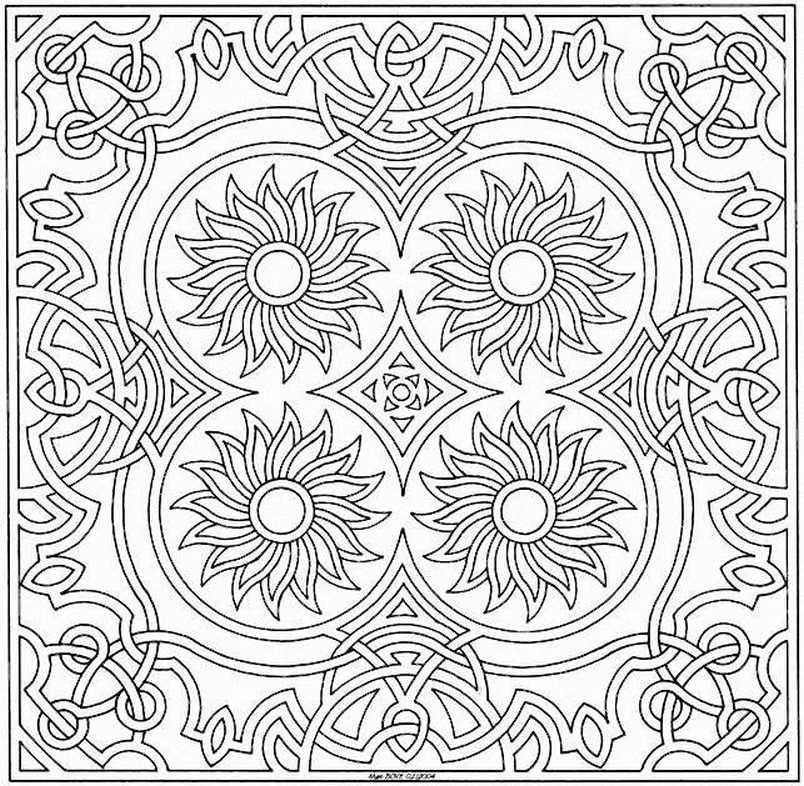 190 mandalas para colorear para ni os mandalas - Grand mandala ...