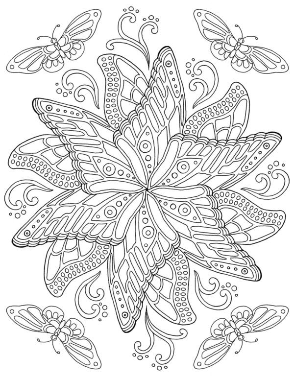 Mandalas Para Colorear De Mariposas