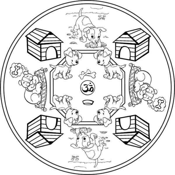Dibujos Mandalas Infantiles Para Colorear E Imprimir