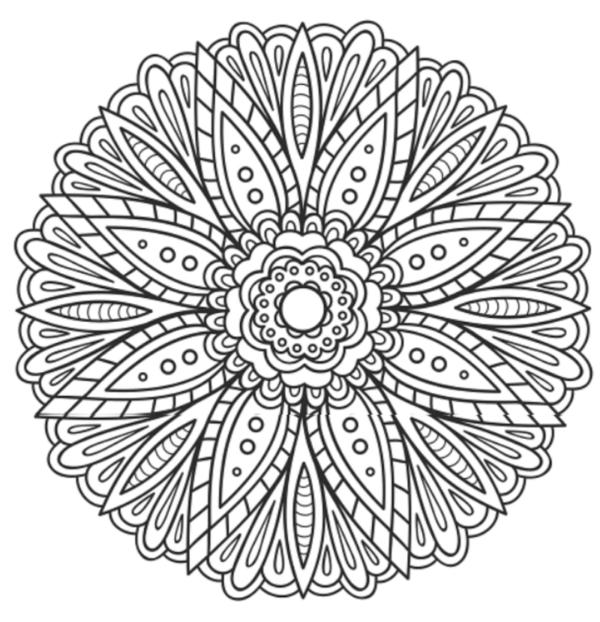 196 Dibujos de Mandalas para Colorear fáciles y difíciles | Mandalas