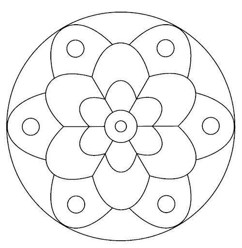 196 dibujos de mandalas para colorear f ciles y dif ciles mandalas - Cenefas para dibujar ...