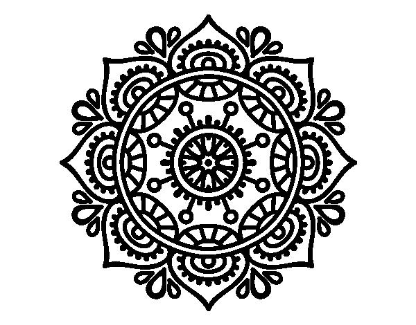 196 dibujos de mandalas para colorear f ciles y dif ciles - Plantilla mandala pared ...