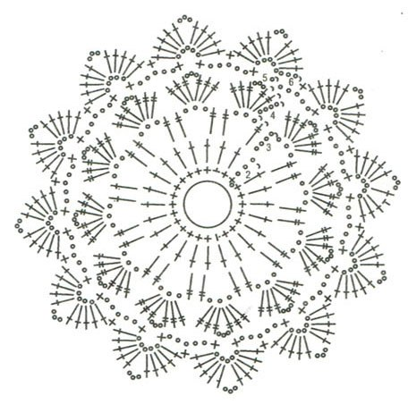 265360603020816938 further Four Free Square Crochet Motifs besides Crochet  7E Diagrams together with How To Read A Crochet Pattern Chart likewise Free Crochet Pattern For Oblong Doily. on circle square crochet pattern