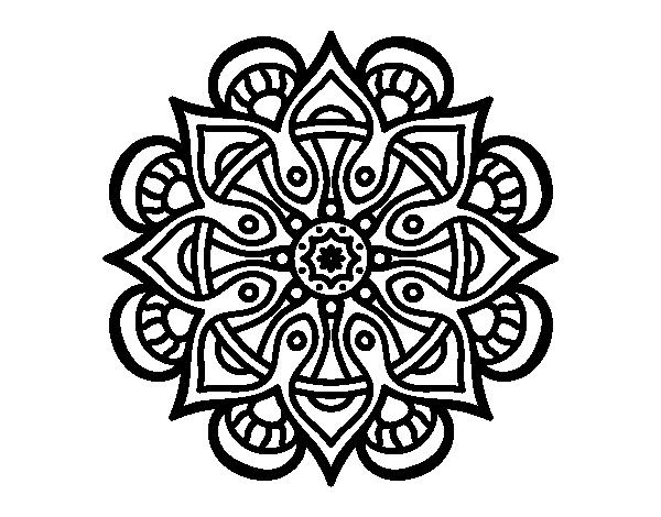 Dibujos Para Colorear Para Adultos Faciles: 196 Dibujos De Mandalas Para Colorear Fáciles Y Difíciles