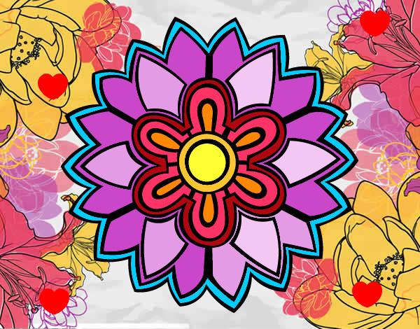 Flores En Dibujo A Color: Mandalas De Colores Y Su Significados