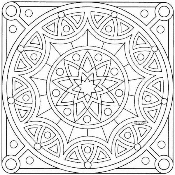77 Diseños e imágenes de mandalas celtas para descargar y colorear