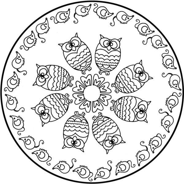 Mandalas Con Estrellas Para Colorear Tatuar Dibujar Imprimir Auto