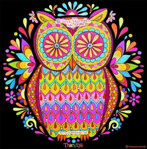 61 Mandalas Y Zentangles Con Buhos Y Lechuzas Diseños Y Significado