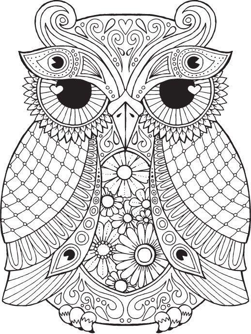 61 Mandalas y Zentangles con buhos y lechuzas: Diseños y significado ...