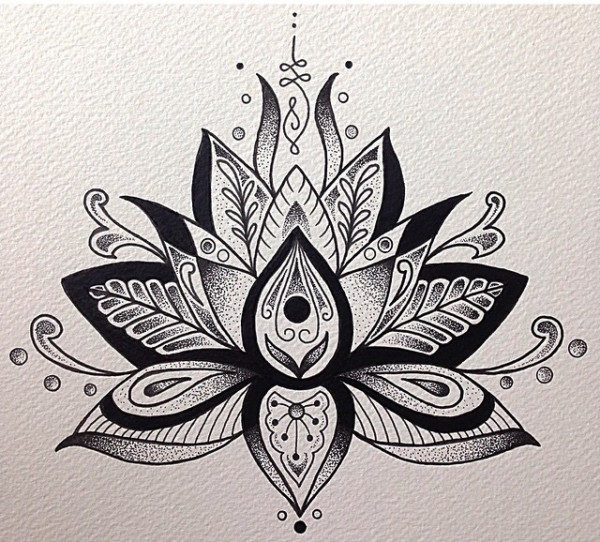 Mandalas con flor de loto significado y dise os para for Disenos de mandalas