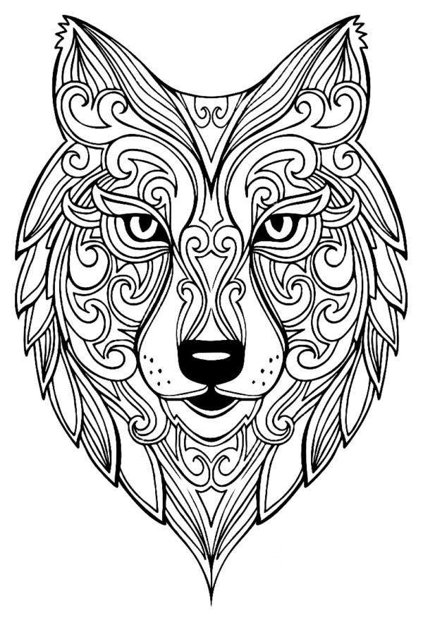 Mandalas para colorear con animales y Zentangles - Mandalas