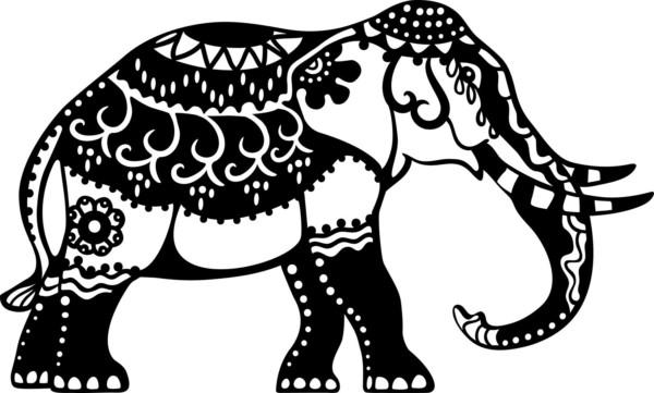 Mandalas Para Colorear Con Animales Y Zentangles: Diseños De Elefantes Hindúes En Mandalas: Significado Y
