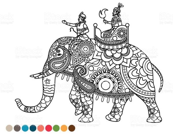Diseños de Elefantes hindúes en mandalas: Significado y dibujos para ...