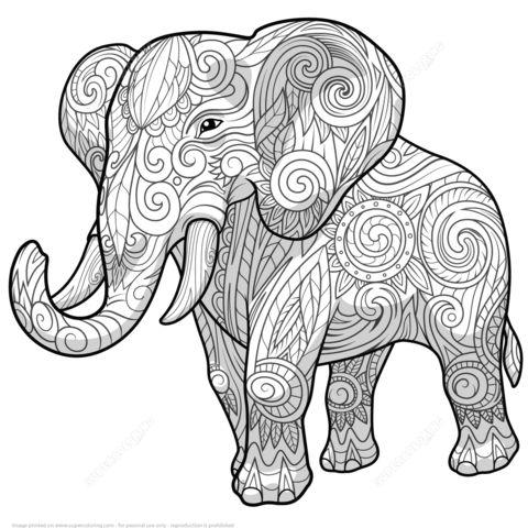 Volwassen Kleurplaten Olifant Dise 241 Os De Elefantes Hind 250 Es En Mandalas Significado Y