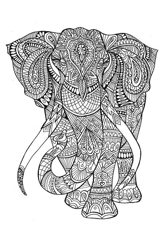Dise os de elefantes hind es en mandalas significado y - Libro da colorare elefante libro ...