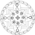 Mandalas tibetanos para colorear y meditar: Diseños