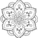 80 Mandalas con flores para colorear: Diseños inspiradores