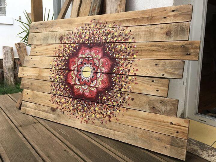 C mo pintar bonitos mandalas en madera mandalas - Decorar madera con pintura ...