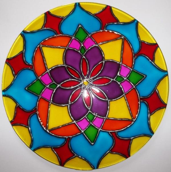 Mandalas En Vidrio Ideas Novedosas Pintadas A Mano Mandalas