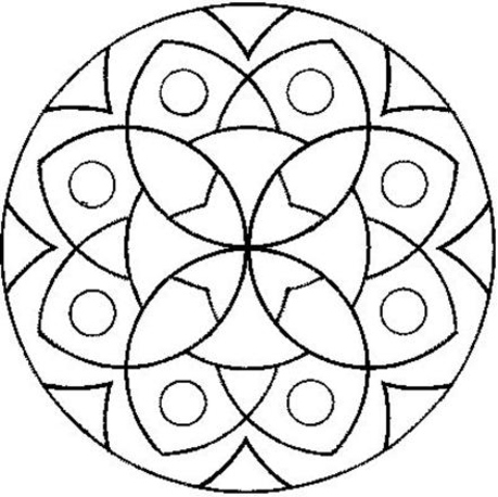 Bonitos Mandalas Para Ninos Disenos Para Colorear Y Aumentar La