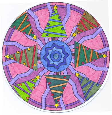 Mandalas Navideños: Diseños para niños y para colorear en Navidad ...