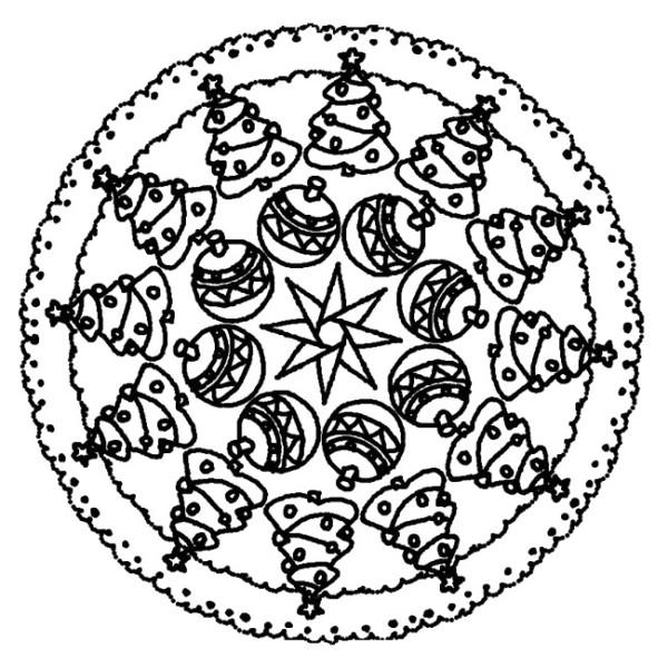 Mandalas navide os dise os para ni os y para colorear en navidad mandalas - Mandalas cycle 3 ...