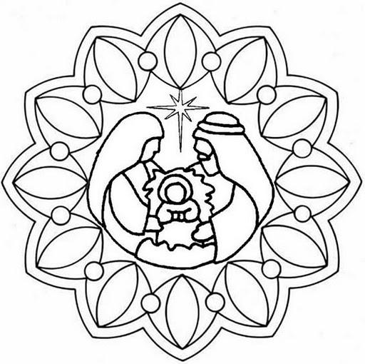 Mandalas navide os dise os para ni os y para colorear en - Dibujos navidenos para imprimir y colorear ...
