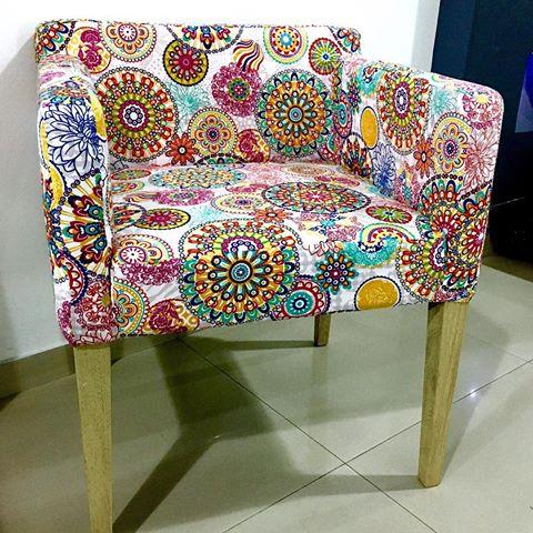 150 dise os de mandalas para decorar macetas paredes - Forrar sillas con tela ...