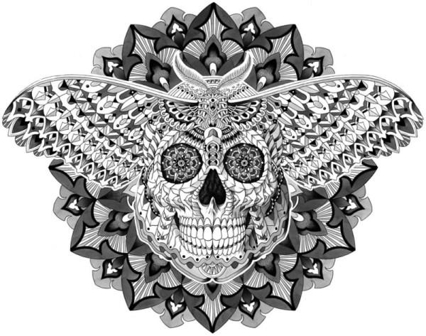 Mandalas De Calaveras Mexicanas Para Tatuaje Significado