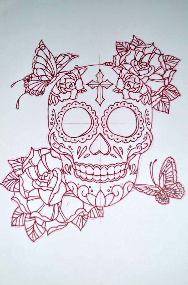 Beautiful Sugar Skulls Drawings Mandalas de calaveras ...