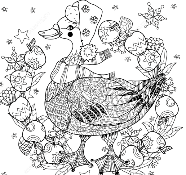 Diseños de Zentangle navideños para descargar - Mandalas