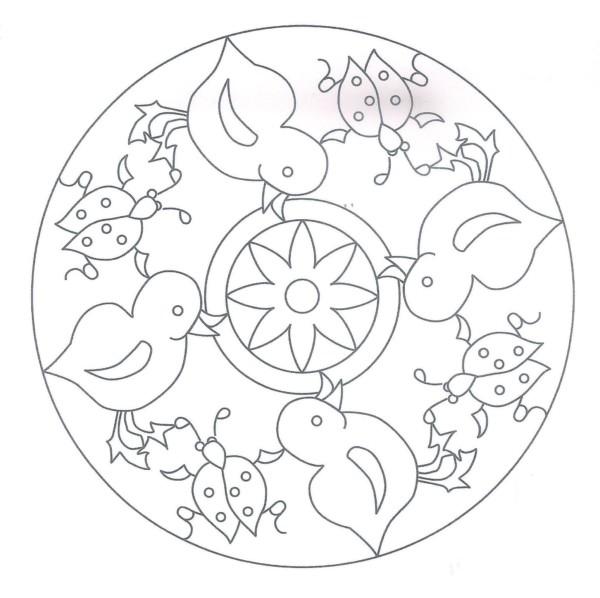 Mandalas fáciles para pintar e imprimir y para dibujar los niños ...