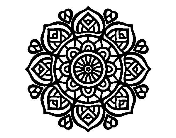 Dibujo De Mandala 11 Para Pintar Y Colorear En Línea: Mandalas Hindúes: 50 Dibujos Para Imprimir Y Colorear