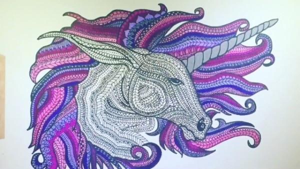 Unicornios Mandalas Y Zentangles Con Pegasus Para Colorear Mandalas