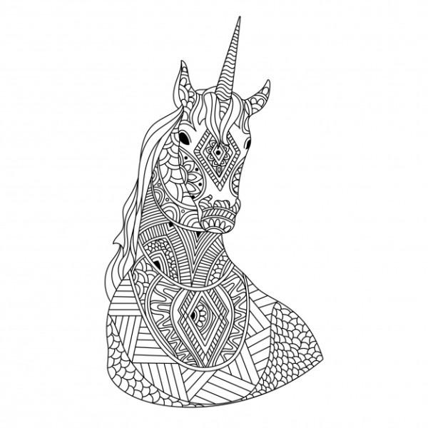 Unicornios: Mandalas y Zentangles con Pegasus para colorear | Mandalas