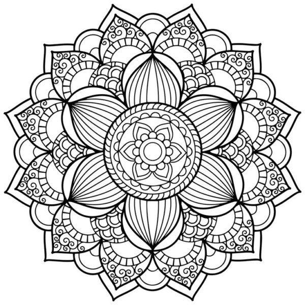 Dibujos De Mandalas Para Colorear Relajarse Y Meditar Mandalas - Mandalas-sin-pintar