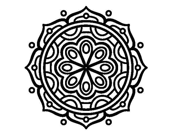 Dibujo De Mandala Para Relajarse Para Colorear: Dibujos De Mandalas Para Colorear, Relajarse Y Meditar