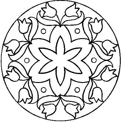 Encantador Fácil Henna Para Colorear Modelo - Páginas Para Colorear ...