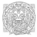 Mandalas de animales para niños, fáciles , para imprimir y colorear