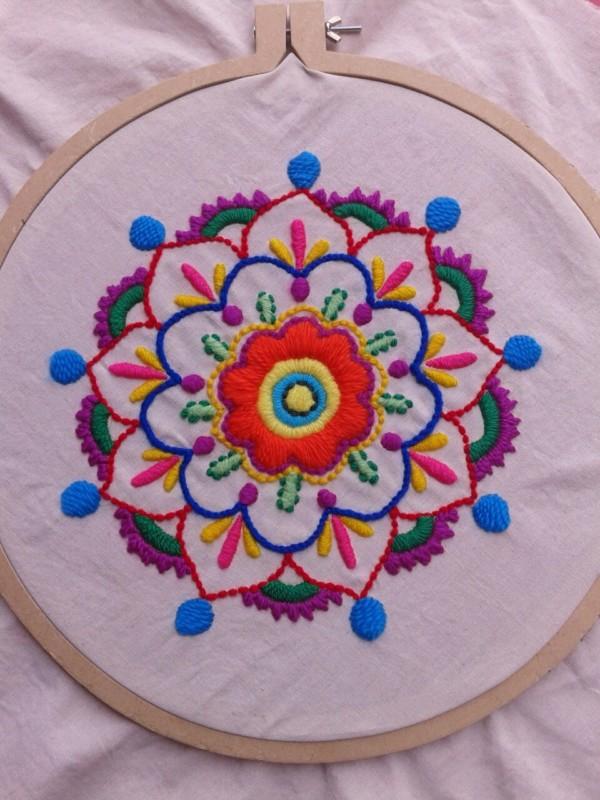 Mandalas mejicanos: Mandalas bordados mexicanos - Mandalas
