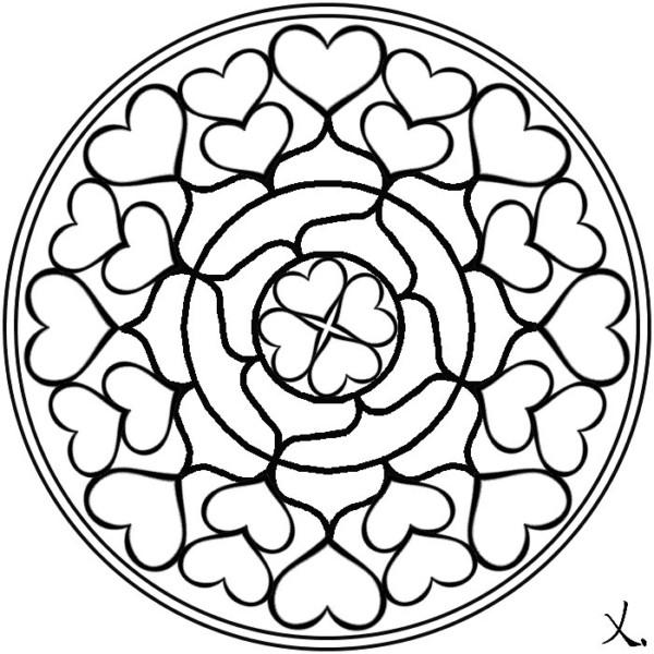 Mandalas De Amor Para San Valentin Imprimir Y Colorear Mandalas
