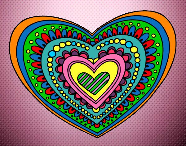 Mandalas De Amor Para San Valentin: Imprimir Y Colorear