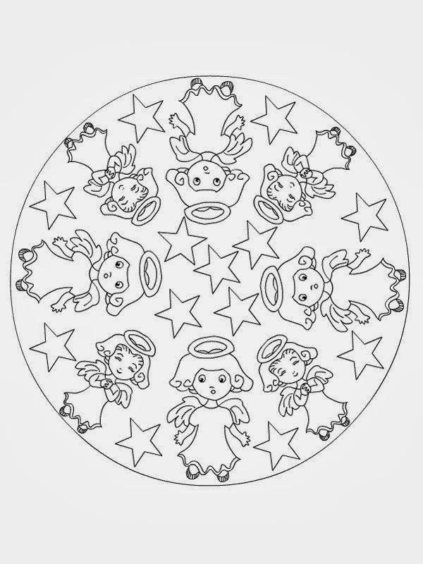 Mandalas con Ángeles para colorear: Significado - Mandalas