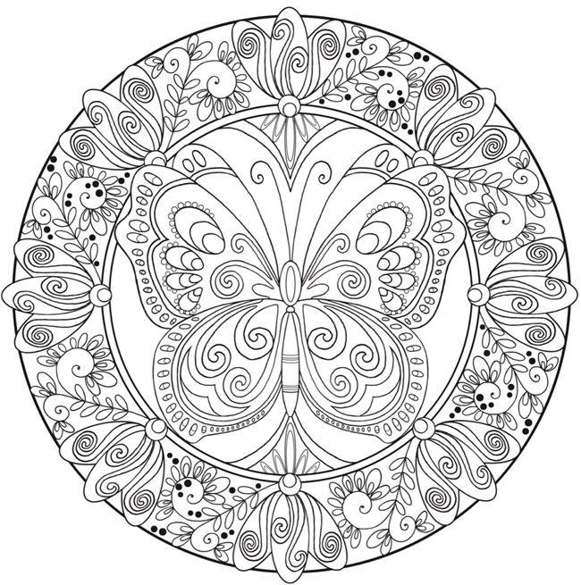 Mandalas con mariposas significado y dise os para for Disenos de mandalas